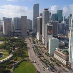Aerial Hyperlapse Downtown Miami 4k 24p