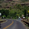 Scenic volcanic mountain pass in Oahu Hawaii North Shore