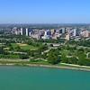 Aerial video Chicago Montrose Dog Beach 4k
