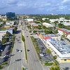 Aerial footage of Commercial Boulevard Lauderdale by the Sea