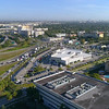 Aerial video of a Toyota automobile  Dealership