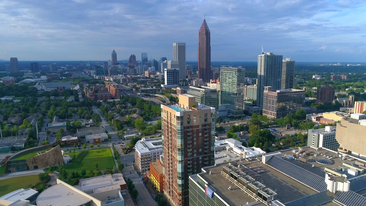 Stock footage Midtown Atlanta 4k 60p