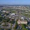 Aerial video of Miami traffic