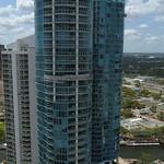 Aerial panoramic video Downtown Fort Lauderdale