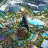 Aerial shot Volcano Bay Orlando Universal 4k 60p