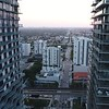 Aerial view of Brickell Downtown heading west