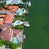 Aerial reveal Miami Beach La Gorce 4k 24p