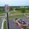 Aerial video Burger King Sign 4k
