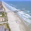 Daytona Florida pier aerial video 4k