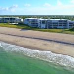 Aerial drone video Sailfish Point Condominiums Stuart FL 4k 60p
