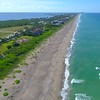 Luxury beachfront real estate Jensen Beach Florida 4k drone aerial video