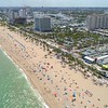 College crowds on Fort Lauderdale Beach
