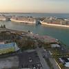 Aerial video of Port Miami Florida USA 4k