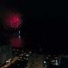 Aerial drone video fireworks show 4k 24p