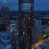 Aerial drone reveal The Westin Peachtree Plaza Atlanta