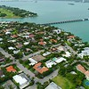 Aerial drone shot of Bay Harbor Islands