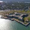 Castillo De San Marcos fort Aerial video