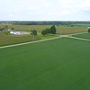 Aerial drone footage of Indiana USA farms 4k 60p