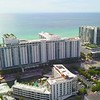 Aerial establishing shot Roney Palace Miami Beach