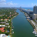 Aerial video Miami Beach coastal scene 4k 24p prores