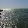 Aerial or boat pov Ocean inlet