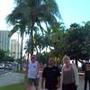 People walking along Waikiki Beach