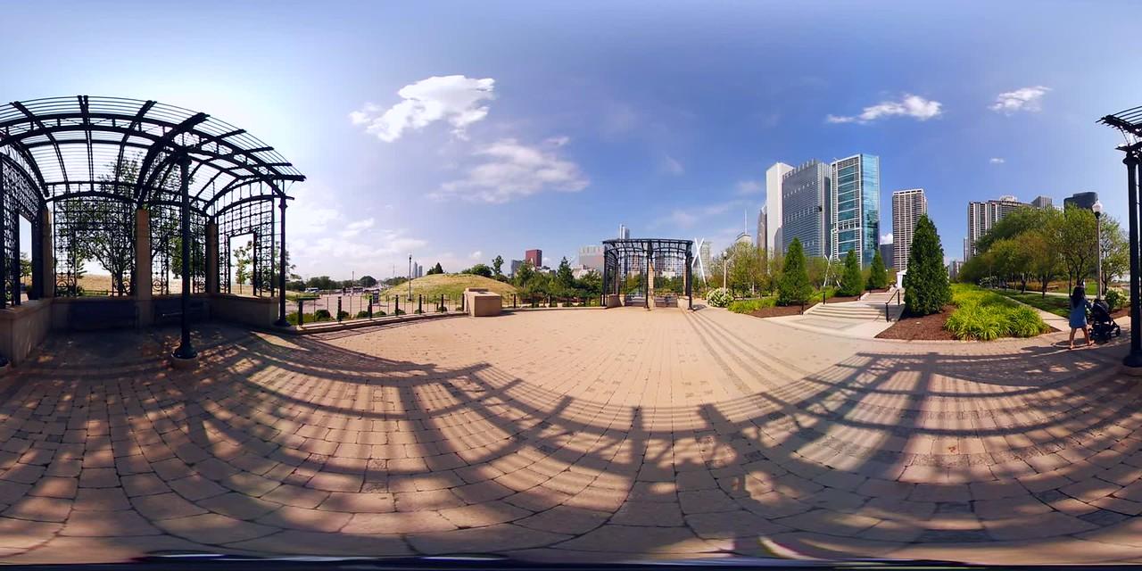 360vr Millennium Park Chicago garden scene