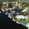 Aerial video Coral Ridge Yacht Club community Fort Lauderdale Florida