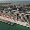 Aerial hyperlapse video Port Miami cruise ships 4k