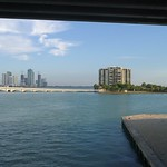 Aerial video of the Venetian Causeway and islands