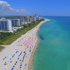Aerial video of luxury real estate in Miami Beach