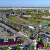 Aerial drone video Golden Glades highway interchange