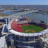 Aerial video Great American Ballpark Cincinnati Reds