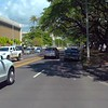 Driving on Punahou Street Honolulu Hawaii