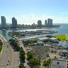 Aerial video Macarthur Causeway Miami Beach FL 4k 60p