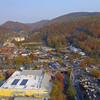 Gatlinburg Tennessee 4k aerial video