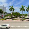 Aerial video Port Miami Globe 4k