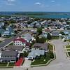 Aerial drone seaside homes Brigantine Beach New Jersey USA