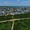 Aerial video seaside homes Brigantine Beach New Jersey USA