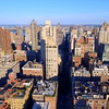 Aerial video of apartment buildings in New York