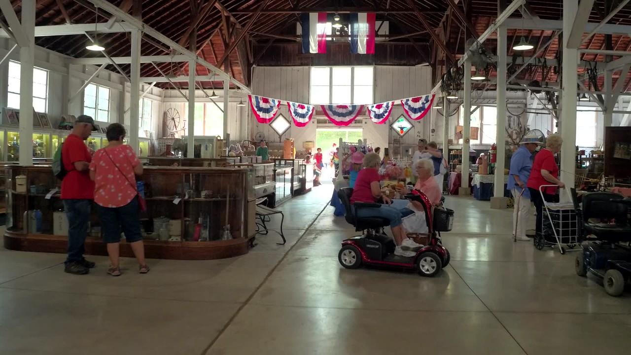 Iowa State Fair antiques in the barn