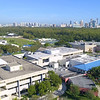 Aerial video FIU college campus 4k 60p