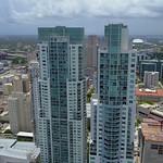 Aerial flyover Vizcayne Downtown Miami 4k