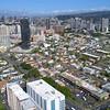 Aerial video Downtown Honolulu Oahu Hawaii