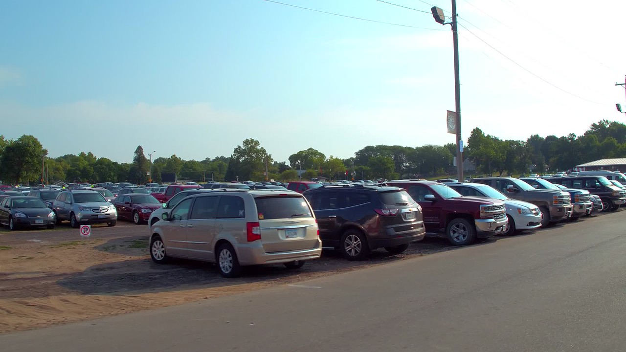 Parking lot at the Iowa State Fair