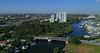 Aerial descent Miami River