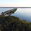 Santee National Wildlife Refuge South Carolina aerial drone video