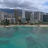 Aerial drone footage of Waikiki Beach 4k 60p