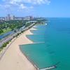 North Avenue Beach Chicago hyperlapse aerial drone 4k 60p