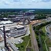 Aerial flyover tour drone Manchester Richmond VA, USA 4k
